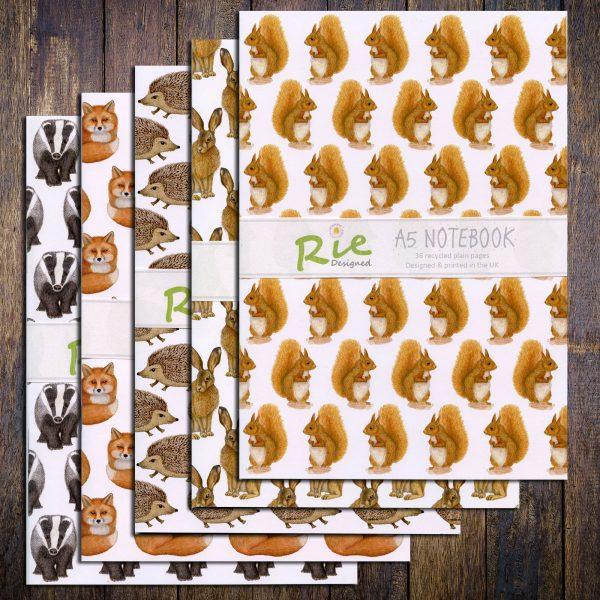 wild animal notebooks