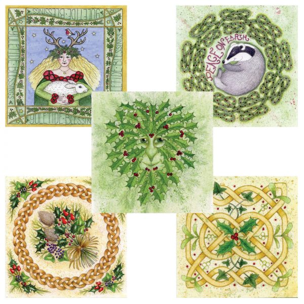 pack celtic christmas cards
