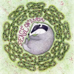 sleeping badger christmas card