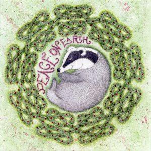 sleeping badger christmas card