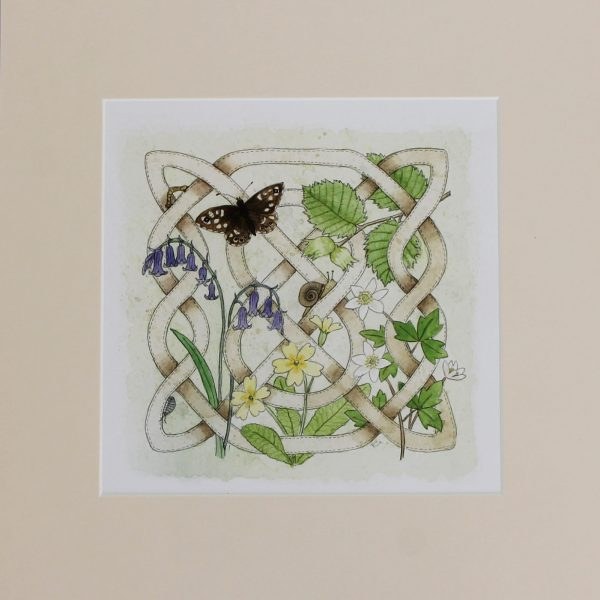 Celtic flora woodland print