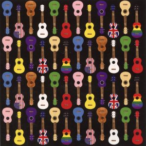 colourful ukulele card black
