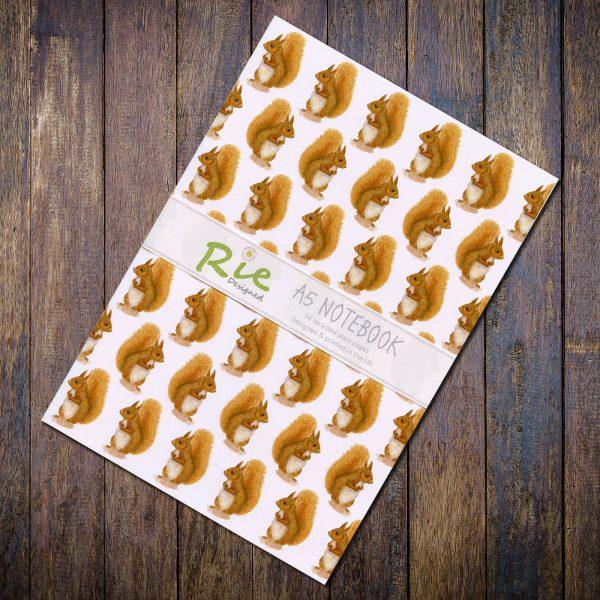 red squirrel notebook