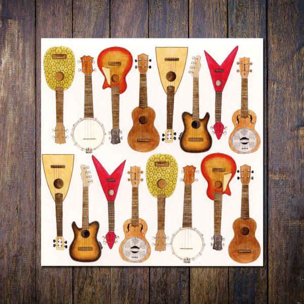 ukulele greetings card