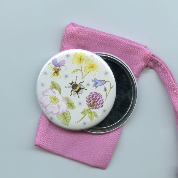 wildflower pocket mirror