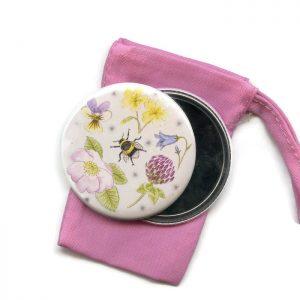 wildflower pocket mirror