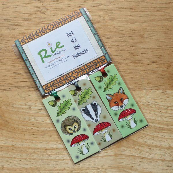 woodland-animal-bookmarks