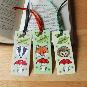 woodland-animal-bookmarks