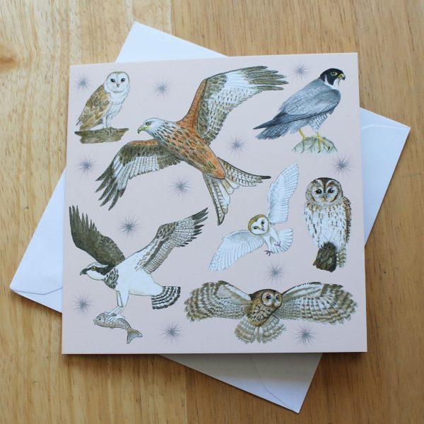 Birds of Prey greetings card