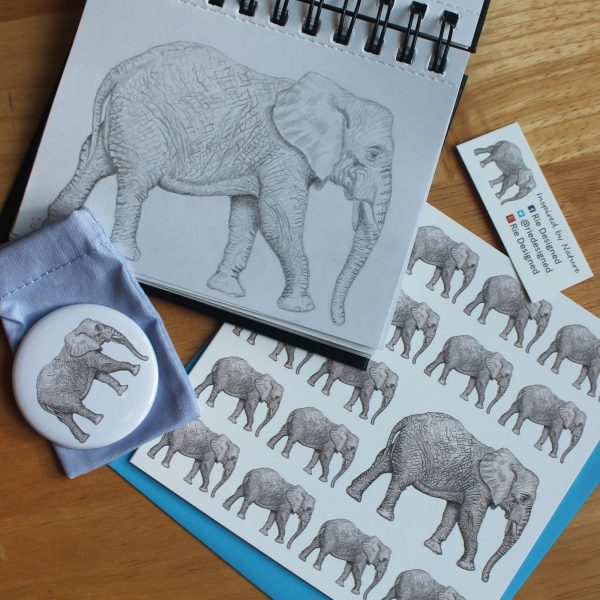 elephant-sketch-and-products