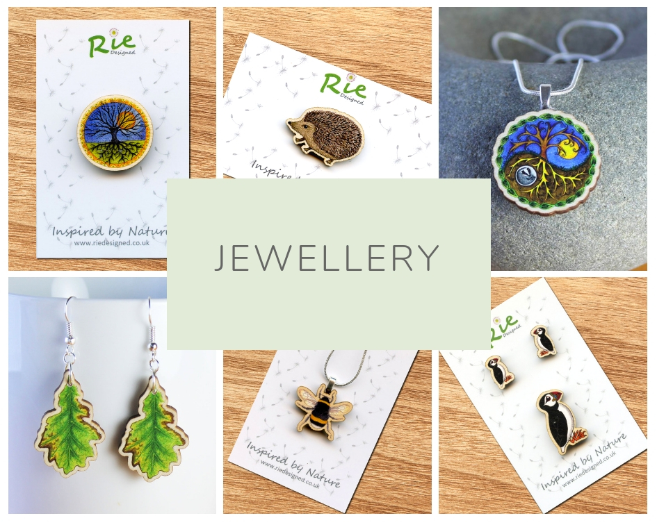 Rie designed jewellery