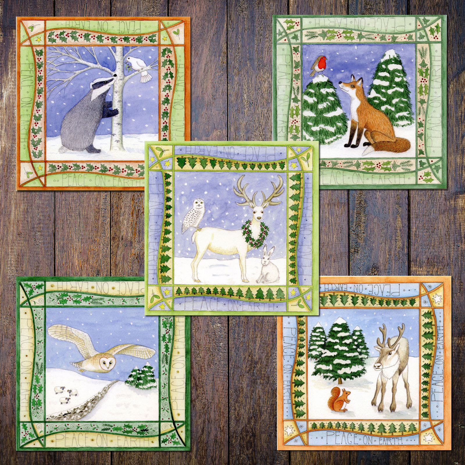 Mountain Hare Christmas Card Animal Non Religious Pagan Celtic Yuletide
