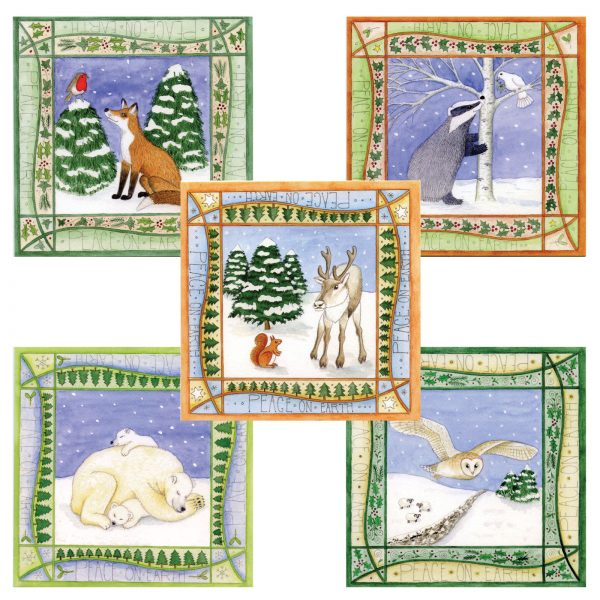 pack of animal christmas cards