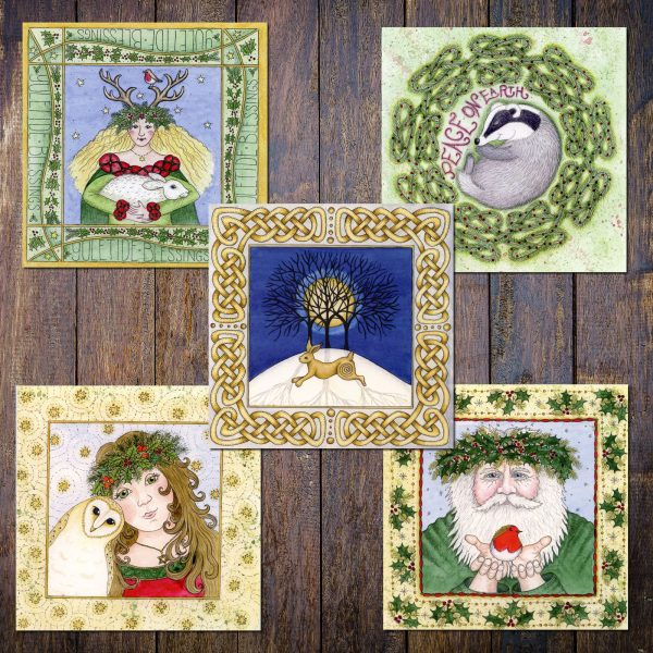 Assorted Pagan Yule cards