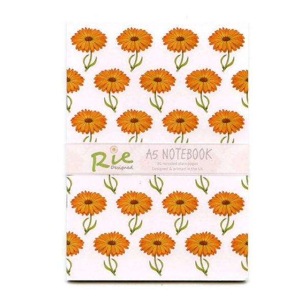 calendula a5 recycled notebook