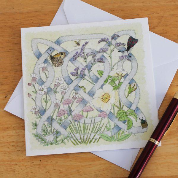 Celtic Flora Coast Greetings Card