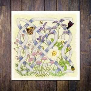 Celtic Flora Coast Greetings Card