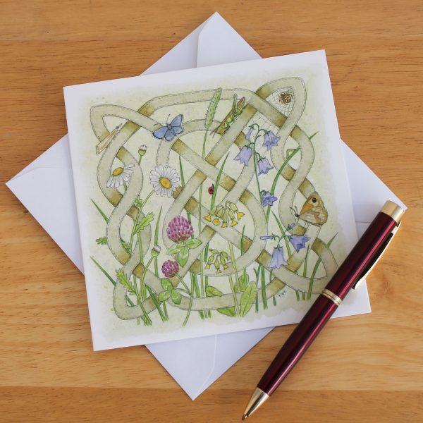 Celtic Flora Meadow Greetings Card