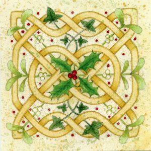 celtic knot christmas card