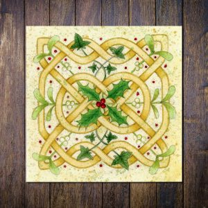 celtic knot christmas card