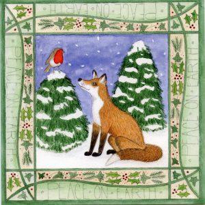 Fox & Robin Christmas Card