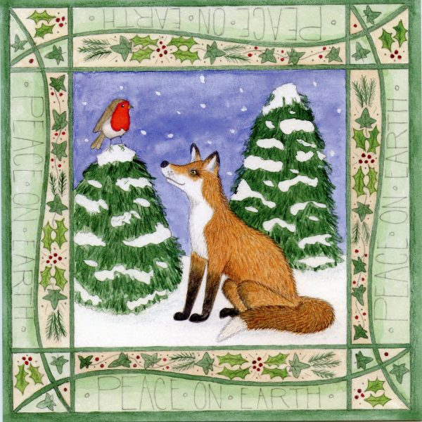 Fox & Robin Christmas Card