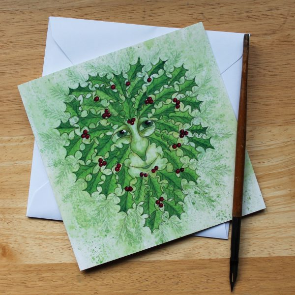 green man christmas card