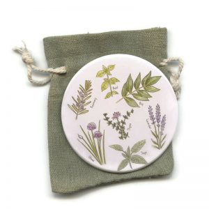 Herbs pocket Mirror