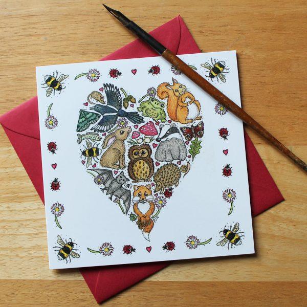 Love Nature Greetings Card
