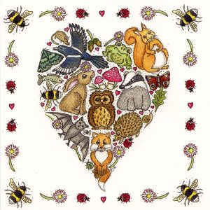 love nature greetings card