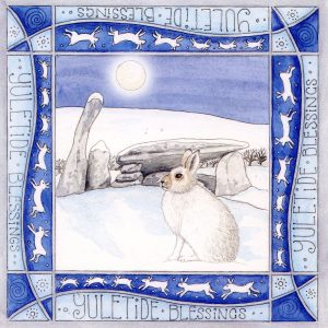 Mountain Hare Cairn Holy christmas card