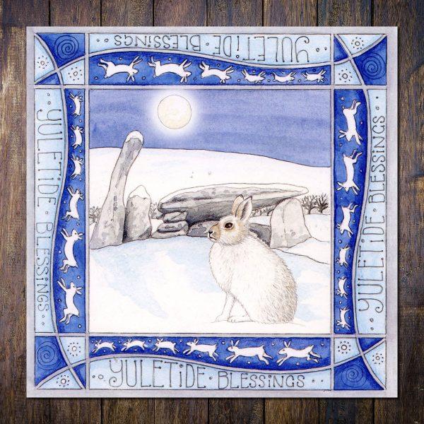 Mountain Hare Cairn Holy christmas card