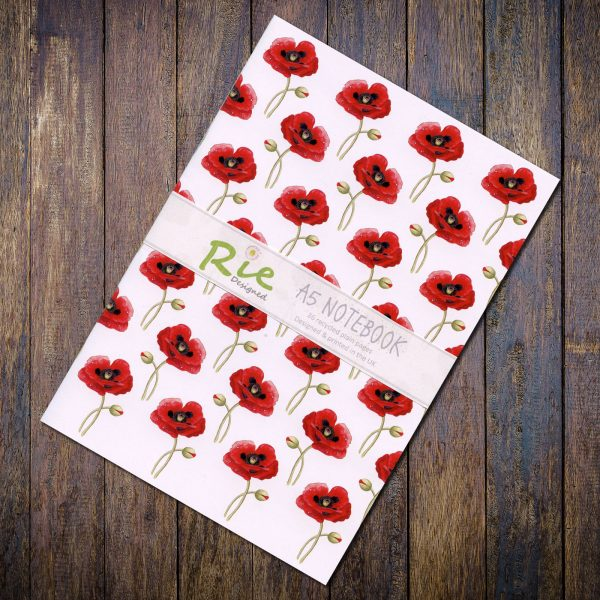 poppy a5 recycled notebook
