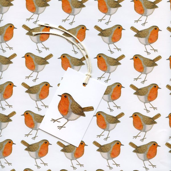 robin gift wrap wrapping paper