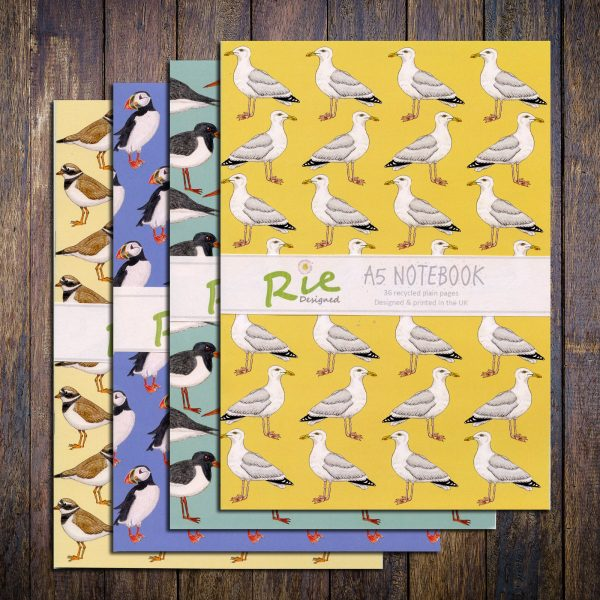 seabirds a5 notebooks