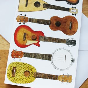 Ukulele & Music Cards