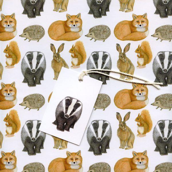 Wild Animals Gift Wrap