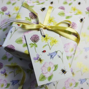 wildflower gift wrap