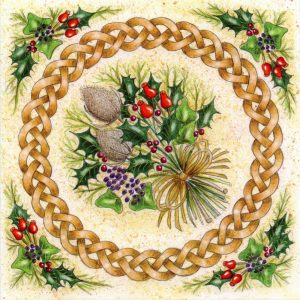 celtic bouquet christmas card
