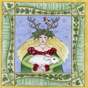 yule goddess christmas card