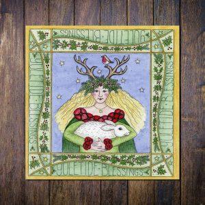 yule goddess christmas card