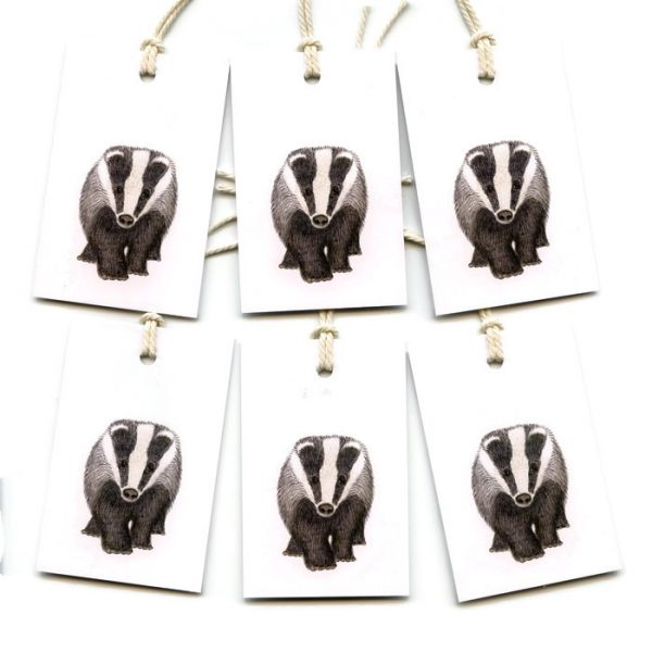 Badger Gift Tags