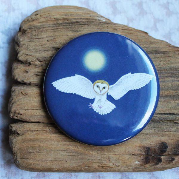 barn owl pocket mirror