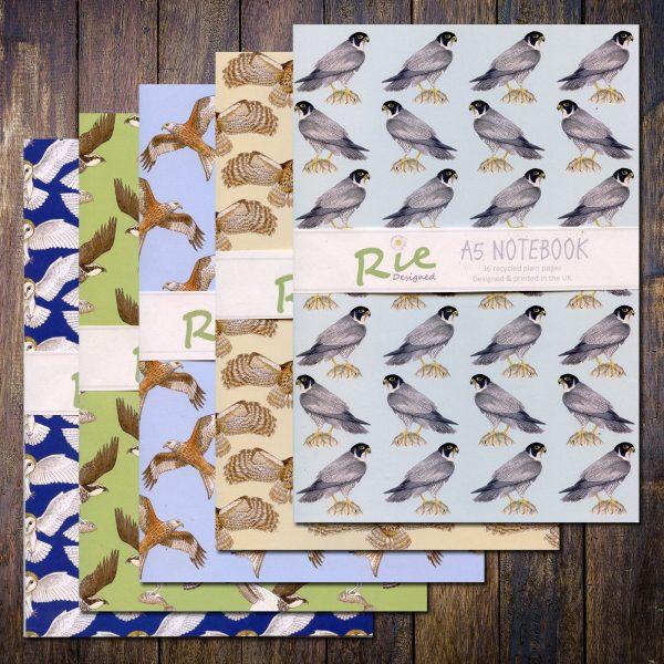 bird of prey a5 notebooks