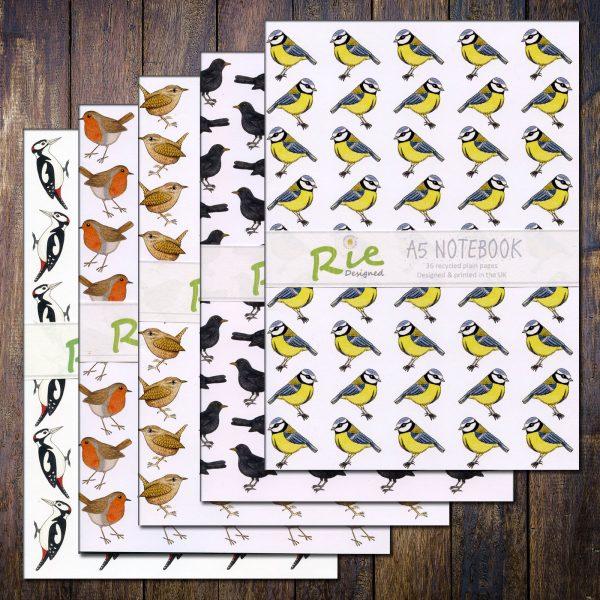 A5 Garden Birds Notebooks