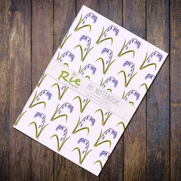bluebell a5 recycled notebook