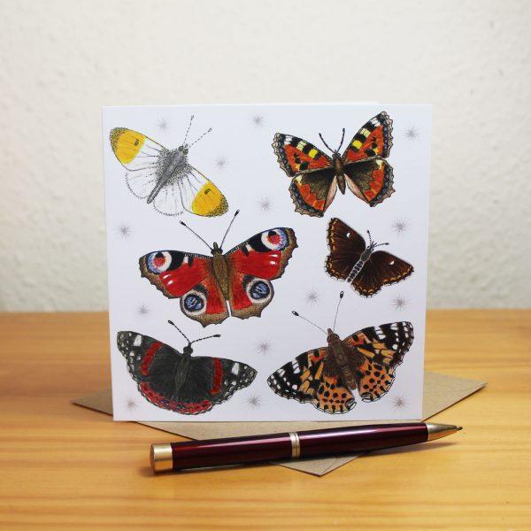 British butterflies greetings card