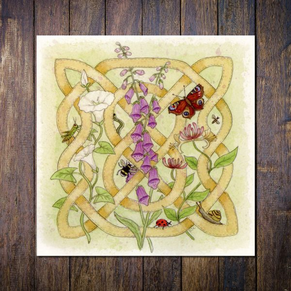 Celtic Flora Hedgerow Greetings Card
