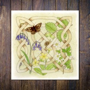 Celtic Flora Woodland Greetings Card