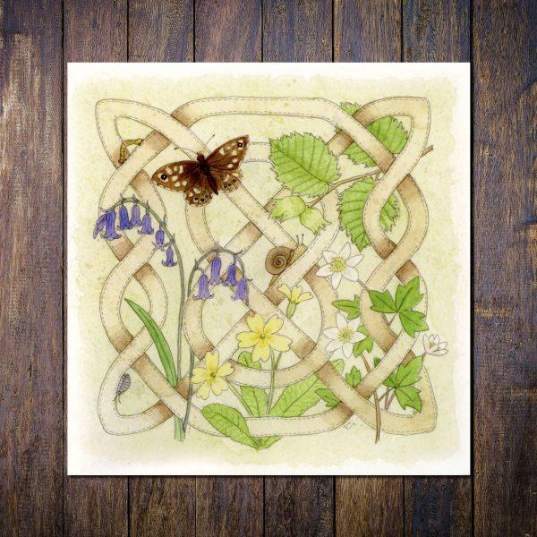 Celtic Flora Woodland Greetings Card